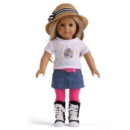 Wholesale High quality fashion very cute inch american doll clothes girl dolls clothing accessories V5TY