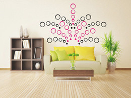 Wholesale Party Decoration D Stereo Circles Wall Stickers Rings Home Art Decal Acrylic Removable Wall Decor Wallpaper Free UPS Factory Direct