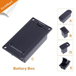 Wholesale CHEAP Quality V Battery Box Case holder for Active Guitar Bass Pickup