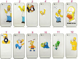 Wholesale For iphone S S C plus case Homer Simpsons Simpson eat hold logo Hard pc Clear transparent Crystal case for iphone S S C case