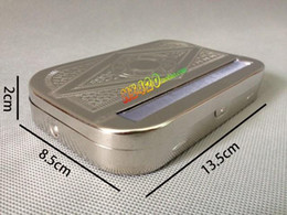 Tobacco Roller Box matel Cigarette Roll Rolling rolling papers Cigarette Case very useful to equip rolling paper
