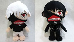 Wholesale high quality Anime Tokyo Ghoul Kaneki Ken Plush Toys Soft Stuffed Doll black white size in quot cm