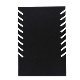 Wholesale-Black velvet slots 8pairs 16pcs necklace organizer display showcase holder with stand FREE SHIPPING DISPLAY JEWELRY