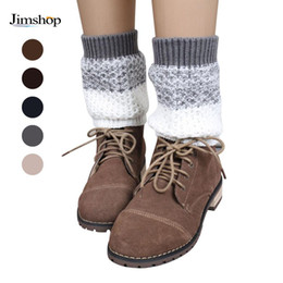Wholesale-Hot Sale New Women Ladies Crochet Knitted Shell Design Boot Cuffs Toppers Knit Leg Warmers Winter Short Liner Boot Socks