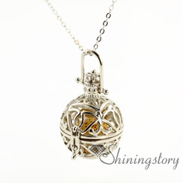 crown openwork aromatherapy necklace essential oil jewelry wholesale essential oils necklace essential oil pendant necklace