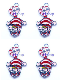Wholesale New Alice in Wonderland Cheshire Cat Metal Charm pendants Jewelry Making Party Gifts KA100