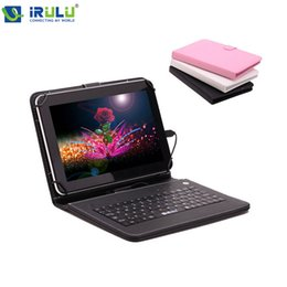 Wholesale iRULU X1 quot Tablet PC Quad Core Android Tablet WIFI Dual CAM GB External G Download Google Play APP W Keyboard New Hot