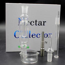Wholesale Micro Nectar Collector Kit Micro NC mm with Quartz titanium nail Nectar Pipe Titanium Nail smoking water pipe DHL Free TZ608