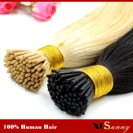 "XCSUNNY I Tip Hair Extensions Human Blonde 100g 18""20"" Keratin Tip Remy Human Hair Extensions 1g s Prebonded Hair Extension"