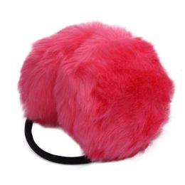 Wholesale Stylish Winter women Red Earmuffs Love Plush Keep Ear warm Earlap for cute girl Warmer Headband