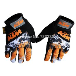 Wholesale-2014 new KTM sport racing bike glove Full Finger Cycling Bicycle Motorcycle Sports Racing Game Gloves M L XL