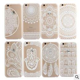 Mandala Henna White Floral Paisley flower Hollow Elephant Dream Catcher Plastic PC back Case Cover For iphone 7 6 6S plus 5S SE