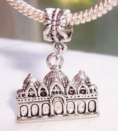 Wholesale Hot Antique Silver Zinc Alloy Venice Italy Church Dangle Bead fit European Charm Bracelet x x mm DIY Jewelry