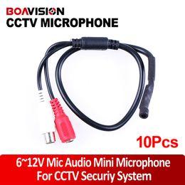 Wholesale 10pcs CCTV Subtle Design Sound Monitor Mini Microphone CS for security camera