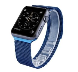 Wholesale 1 Original Design Milanese Loop For Apple Watch Band Stainless Steel Multicolor Colorful Blue Coffee Magnetic Strap Bracelet With Adapter