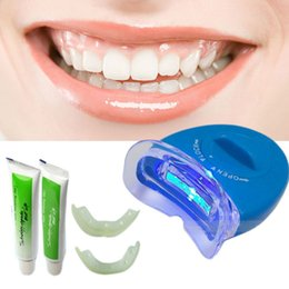 Wholesale Health Beauty Oral Hygiene Dental Bleaching Lamp White Teeth Whitening Tooth Gel Whitener Oral Care Kit For Personal Dental Brightening EUES