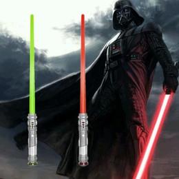 Wholesale Star Wars lightsaber Extended BASIC Darth Vader Anakin Skywalker Obi Wan Kenobi Sword with Light PVC Action Figure Toys Christmas Gift for