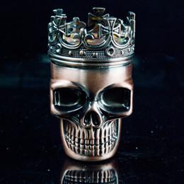 Wholesale Grinders for Tabacco Parts Skull Metal Grinders Super Quality Herb Grinder mm Smoking Accessories Grinder Dry Herb Hand Grinder Mental