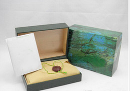 Hot sell green box for luxury watch with booklet card tags