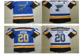 Wholesale Factory Outlet St Louis Blues Jerseys Alexander Steen blue white with A patch jersey number and name is stitched