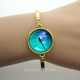 Wholesale Dragonfly picture animal bracelets bangles summer new designer brand women accessories silver charms vintage bracelets