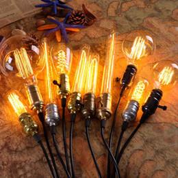 40w Antique Retro Vintage Edison Light Bulb E27 Incandescent Light Bulbs ST64 Filament Bulb Edison Lamp Fixtures Home Decoration.