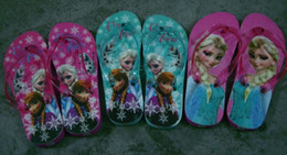 Retail!GIRL 28-34 yards Romance frozen ice princess slippers, flip flops! Sandals! FROZEN ANNA ELSA home shoes!Accept pick!1pairs 2pcs
