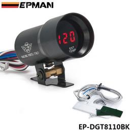 Wholesale EPMAN mm Smoke Exhaust Gas Temperature EGT Gauge Red Digital Shift Light Style Gauge Meter Pod Red LED Black EP DGT8110BK