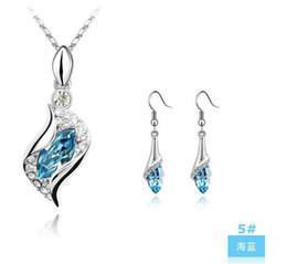 Mariage met en vente en Ligne-Top qualité Ensembles de cristal de bijoux à vendre nuptiales Strass Gemstone mer boucles d'oreilles colliers coeur gros bijoux - 0007LD