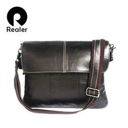2015 fashion genuine leather briefcase men messenger bags business bag leather laptop famous designer brand handbag high quality