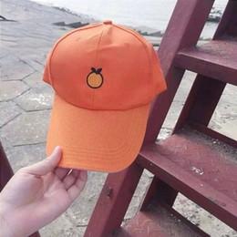 Wholesale-2015 New Design Harajuku Vintage Style Orange Fruits Yellow Women's Baseball Hat