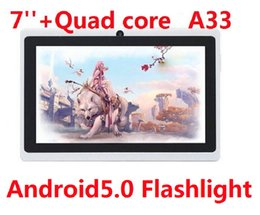 Wholesale Tablet PC Quad Core Flashlight inch Q88 Android Dual Camera capacitive screen MB GB Wifi MID DHL FREE