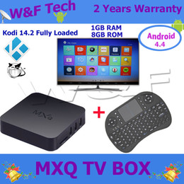 Wholesale MXQ TV Box Amlogic S805 With KODI Fully Loaded Rii I8 Air Mouse Wireless Keyboard Better Selling