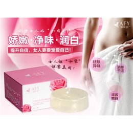 Wholesale 10pc Women Crystal Soap Enzyme Body Whitening Private Parts Clean Labia Perineum Pink Dilute Areola Natural Handmade Soap Removing Melanin