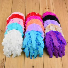 30pcs Curly Feather Pads Nagorie Curled Feather Pad For Headband Hairband DIY Accessories 15 Colors H247