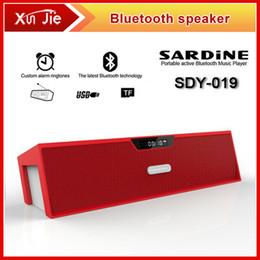 Promotion boîte de haut-parleur de radio 2014 SDY-019 d'origine Nizhi Sardine HIFI Haut-parleur Bluetooth Radio FM sans fil USB Amplificateur Stereo Sound Box avec l'ordre du microphone $ 18Personne trac