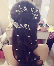 Wholesale 4 Wedding Bridal Pearl Crystal Rhinestone HairPins Bridesmaid Clips Hair Wear U Pick Tiara Jewelry Hair Accessories