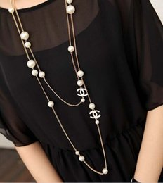 Wholesale 2014 New Arrival Long Necklace Pearl Necklace pc Alloy Material Fashion Jewelry HR083