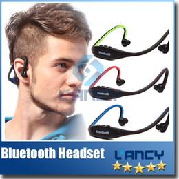 S9 Stereo Headset Sports Bluetooth Speaker Headset Wireless Neckband Headphones In Ear Earphone Hifi Music Player For iPhone6 Plus Samsung