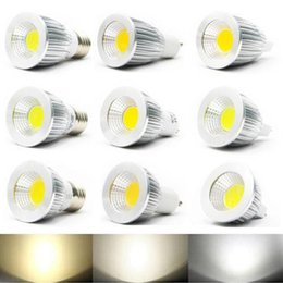 Canada LED Spotlight Super Bright COB Source de lumière Éclairage LED à haute puissance Convertisseur d'alliage d'aluminium Économie d'énergie LED 5w / 7w / 9w, AC85-265V, E27 / GU10 mr16 warm white cob 5w on sale Offre