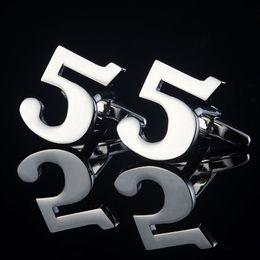 Arabic numerals Cuff Links French Cufflinks Sleeve Nail Lucky Number Cufflink