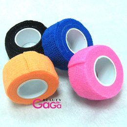Wholesale ail Tools Nail Art Equipment Self Adhesive Elastic cm Wide cm Length Nail Tapes Accessory Finger Protection Wrap Kit Sport