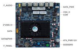 Wholesale 2063 LAN HCM25L4 A Intel Atom D2550 Dual core Firewall Motherboard Intel Giga LAN SATA2 SATA with PWR USB COM DDR3