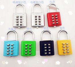 Wholesale new eight key combination lock box parcel trick lock fixed password padlock The blind locknew