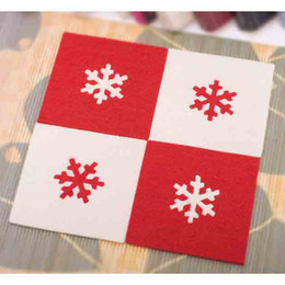 Wholesale Christmas Snowflake Table Placemats Art Decor Felt Insulation Pads Dining Coaster Festive Party Decoration Promotion SD732