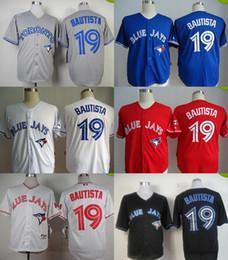 2016 New Wholesale Toronto Blue Jays #19 Jose Bautista Cheap Baseball Jerseys White Red Blue Grey Black baseball Jersey Top Quality