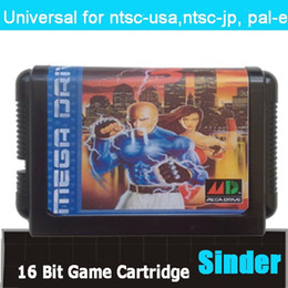 Wholesale Streets Of Rage Game Cartridge Bit Big Black Game Card For Sega Mega Drive Genesis
