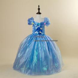 2016 Cinderella Princess Dress Children Dresses Girl Dress Summer Dresses Lace Dresses Party Dress Children Clothes Kids Clothing