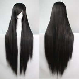 Cheap 100cm Heat Resistant high temperature Fiber Synthetic wigs Harajuku anime cosplay wig Young long straight wigs blonde wig