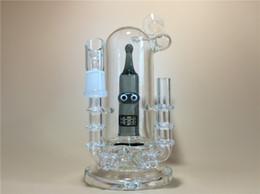 Les brunes à vendre-2015 bongs de verre les plus récents 9inch Brown Mini tuyaux en verre d'eau de vilain avec l'articulation de 14.5mm Bong de deux fonctions Livraison gratuite